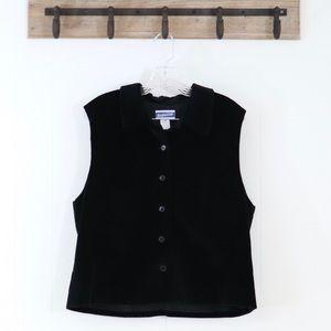 Pendleton velvet vest button down